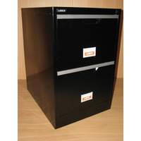 BLACK 2 DRAW FILING CABINET