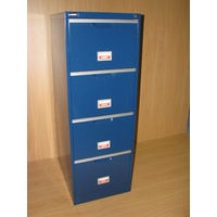 BLUE 4 DRAW FILING CABINET