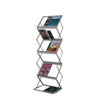 MAGAZINE RACK PORTABLE D/SIDES