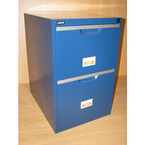 BLUE 2 DRAW FILING CABINET
